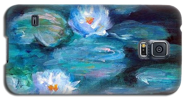 Blue Water Lilies Galaxy S5 Case