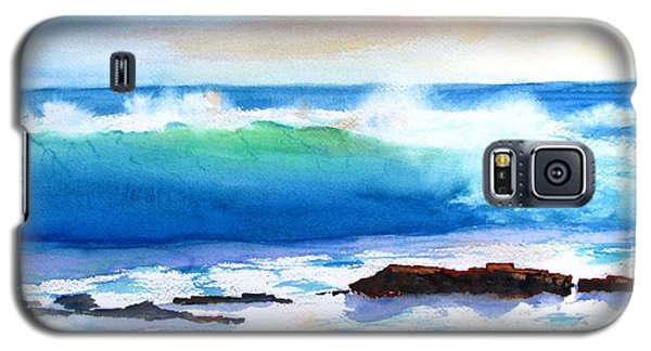 Blue Water Wave Crashing On Rocks Galaxy S5 Case