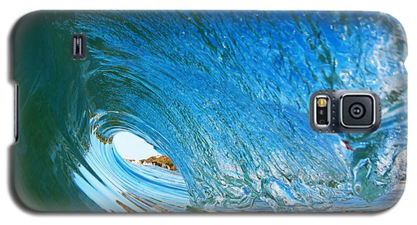 Blue Wave Curl Galaxy S5 Case by Paul Topp