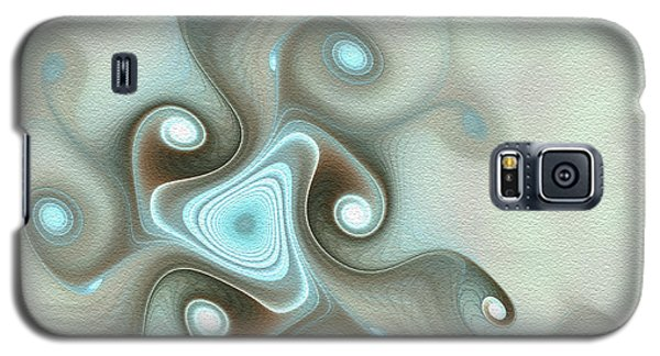 Galaxy S5 Case featuring the digital art Blue Wave by Svetlana Nikolova