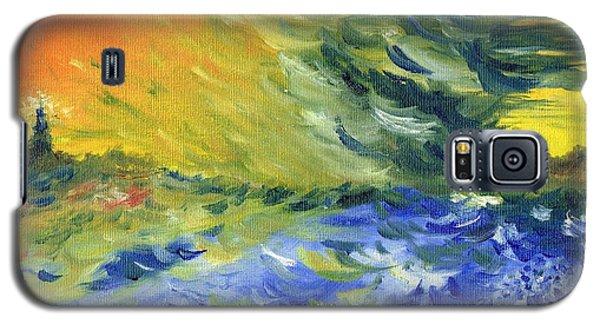 Blue Waves Galaxy S5 Case by Teresa White