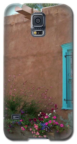 Galaxy S5 Case featuring the photograph Blue Window by Sylvia Thornton