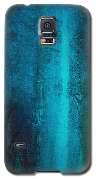 Galaxy S5 Case featuring the painting Blue Winter by Yul Olaivar