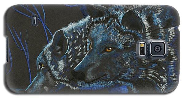 Blue Wolves Galaxy S5 Case by Mayhem Mediums