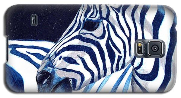 Blue Zebra Galaxy S5 Case