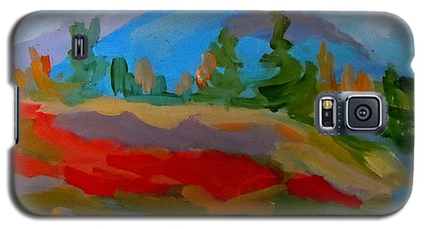 Galaxy S5 Case featuring the painting Blueberry Mountain by Francine Frank