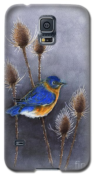 Bluebird Among The Thistles Galaxy S5 Case by Nan Wright
