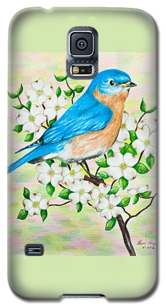 Bluebird And Dogwood Galaxy S5 Case