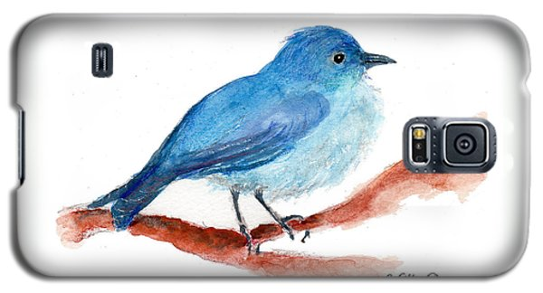 Galaxy S5 Case featuring the painting Bluebird by C Sitton