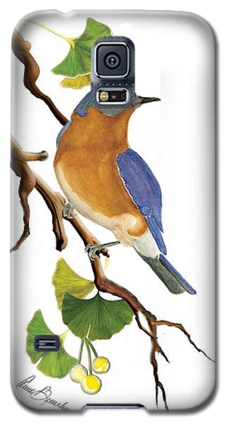 Bluebird In Ginkgo Tree Galaxy S5 Case
