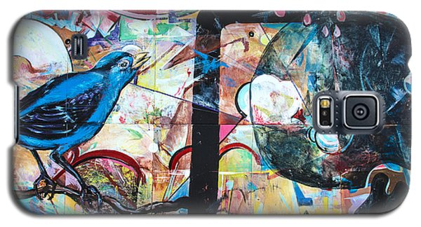 Galaxy S5 Case featuring the mixed media Bluebird Sings by Terry Rowe