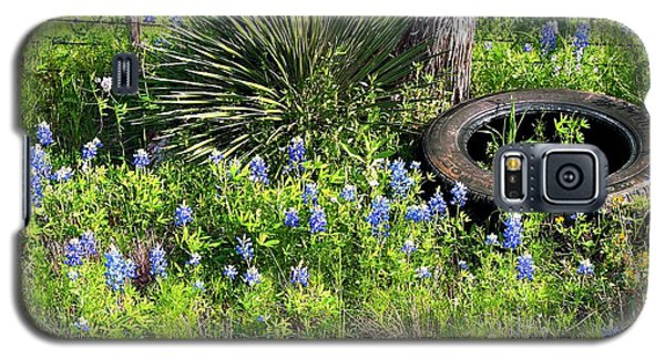 Bluebonnets In Tire Galaxy S5 Case