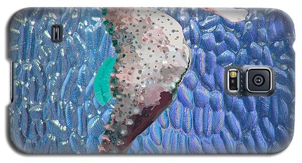 Galaxy S5 Case featuring the digital art Blueglass Seahorse by Megan Dirsa-DuBois