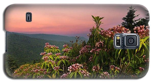 Blueridge Parkway Mountain Laurel Galaxy S5 Case by Randall Branham