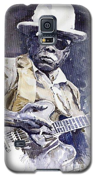 Portret Galaxy S5 Case - Bluesman John Lee Hooker 3 by Yuriy Shevchuk
