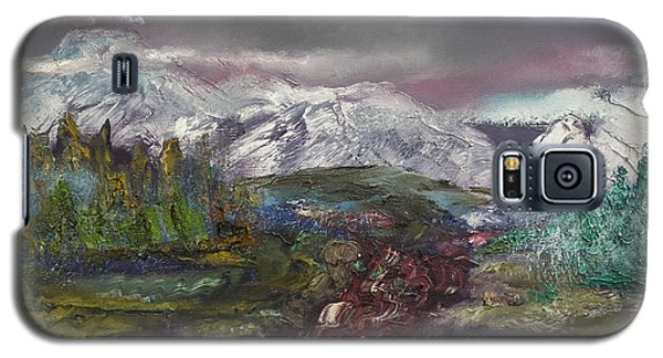 Galaxy S5 Case featuring the painting Blurred Mountain by Jan Dappen