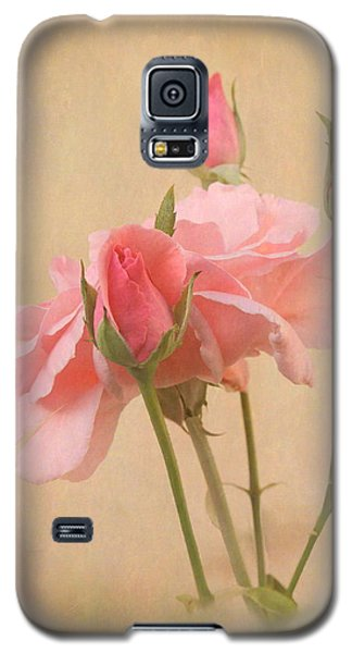 Blushing Pink Galaxy S5 Case by Angie Vogel