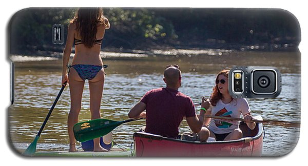 Board And Canoe In Vermillionville Boat Parade Galaxy S5 Case