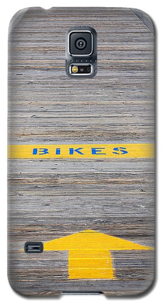 Galaxy S5 Case featuring the photograph Boardwalk Biking by Mary Beth Landis