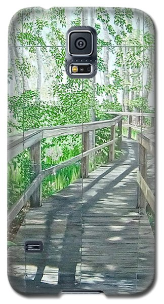 Galaxy S5 Case featuring the painting Boardwalk by Bonnie Heather