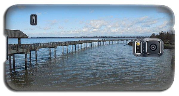 Boardwalk In Blue Galaxy S5 Case by Karen Molenaar Terrell