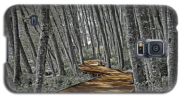 Boardwalk In The Woods Galaxy S5 Case