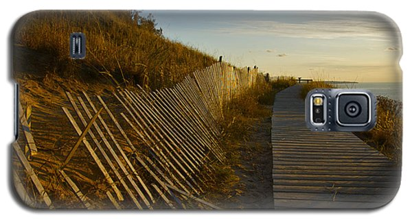 Boardwalk Overlook At Sunset Galaxy S5 Case
