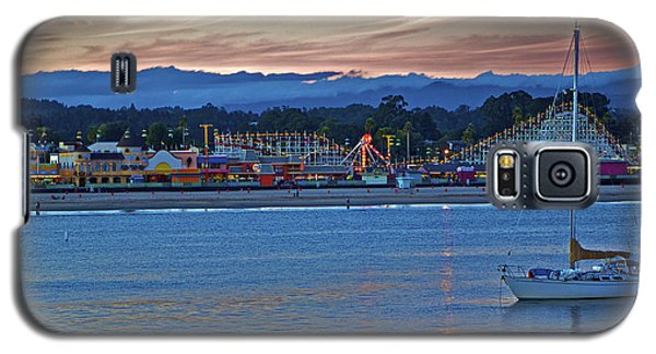 Boat At Dusk Santa Cruz Boardwalk Galaxy S5 Case