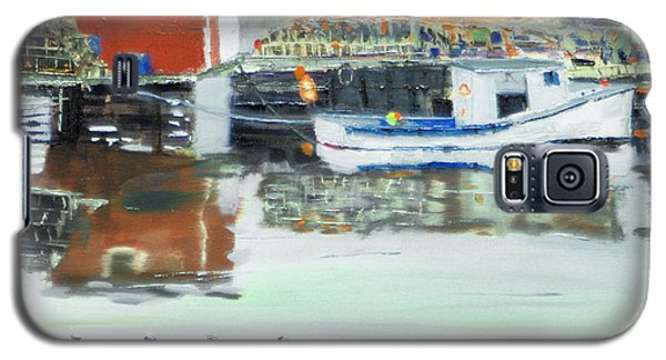 Galaxy S5 Case featuring the painting Boat At Louisburg Ns by Michael Daniels