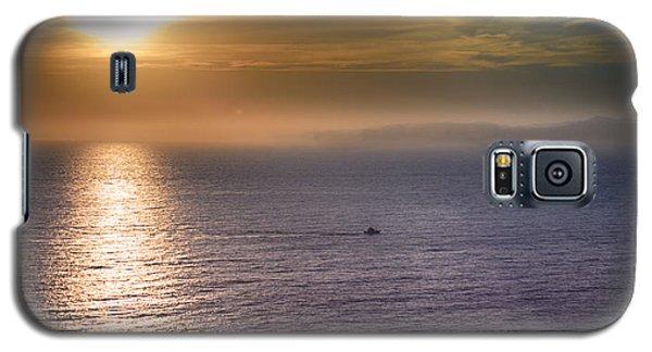 Boat Crossing Sun Beam Galaxy S5 Case by Joseph Hollingsworth