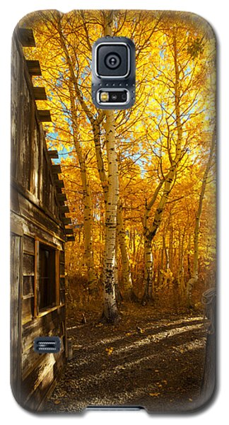 Boat House Among The Autumn Leaves  Galaxy S5 Case