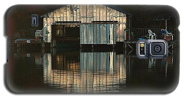 Galaxy S5 Case featuring the photograph Boat House Effects by Tammy Schneider