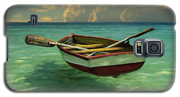 Boat In Clear Water Galaxy S5 Case by David  Van Hulst