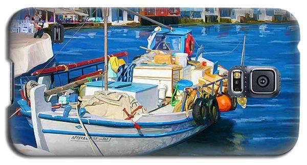 Boat In Greece Galaxy S5 Case