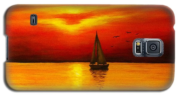 Boat In The Sunset Galaxy S5 Case