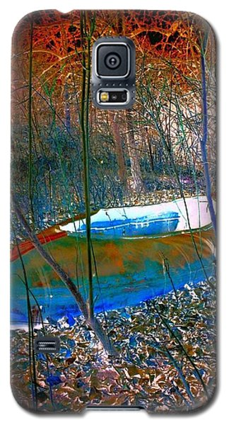 Galaxy S5 Case featuring the photograph Boat In The Woods by Karen Newell