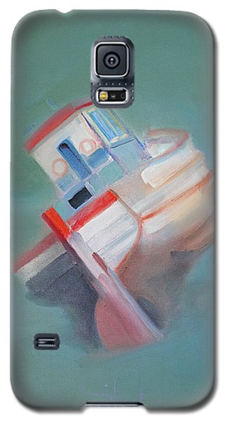 Galaxy S5 Case featuring the painting Boat Retired  Tavira by Charles Stuart