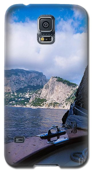 Galaxy S5 Case featuring the photograph Boat Ride To Capri by Mike Ste Marie