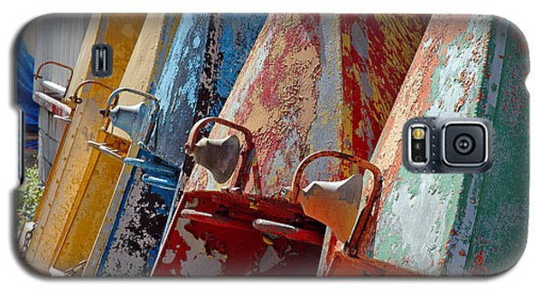 Galaxy S5 Case featuring the photograph Boat Row by Allen Carroll