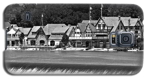 Boathouse Row - Bw Galaxy S5 Case by Lou Ford