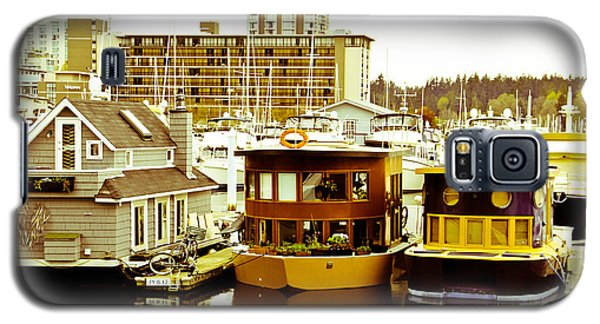 Galaxy S5 Case featuring the photograph Boathouses by Eti Reid