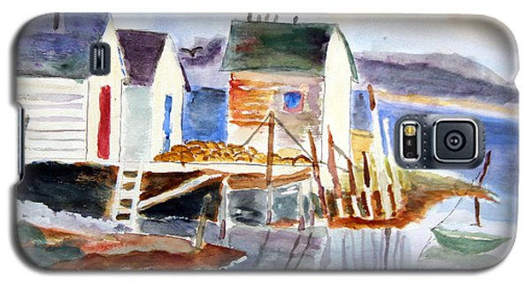 Boathouses On The Wharf Galaxy S5 Case