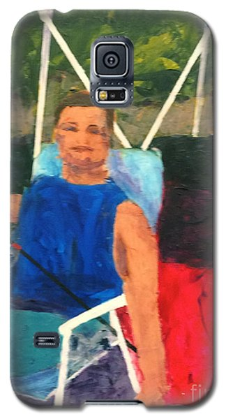 Galaxy S5 Case featuring the painting Boating by Donald J Ryker III