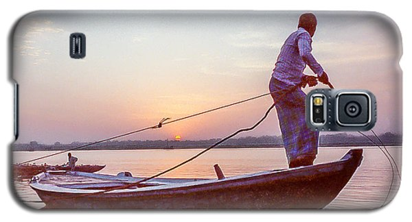 Boatman On The Ganges Galaxy S5 Case