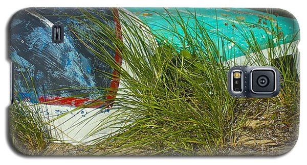 Galaxy S5 Case featuring the photograph Boats And Beachgrass by Amazing Jules
