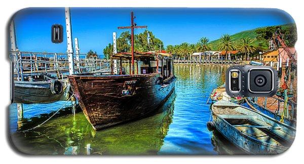 Boats At Kibbutz On Sea Galilee Galaxy S5 Case