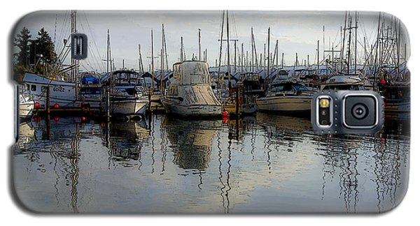 Galaxy S5 Case featuring the photograph Boats At Marina On Liberty Bay by Greg Reed