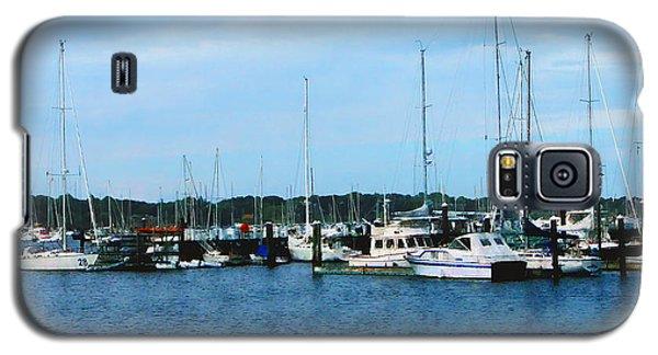 Galaxy S5 Case featuring the photograph Boats At Newport Ri by Susan Savad
