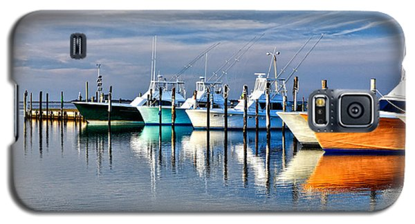 Boats At Oregon Inlet Outer Banks I Galaxy S5 Case