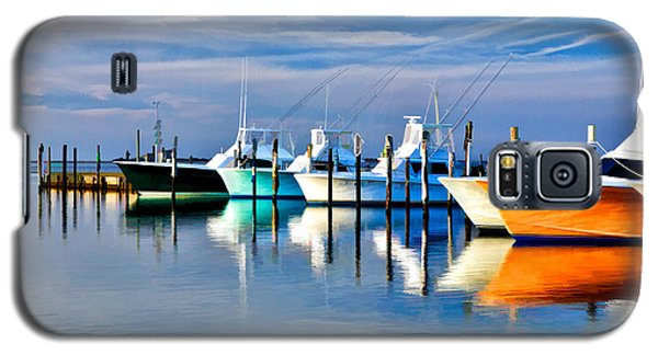 Boats At Oregon Inlet Outer Banks II Galaxy S5 Case